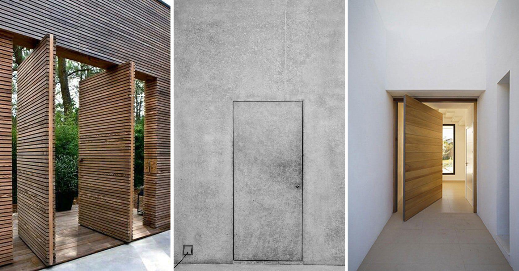 Pin By Wooden Window On Materials Doors Hidden Door Architecture Details
