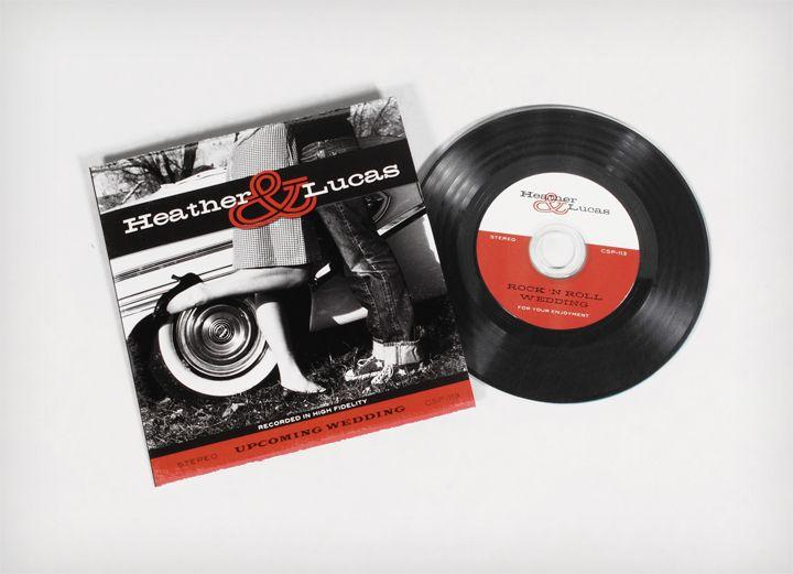 rock 'n' roll wedding invitation on a vinyl record | wedding, Wedding invitations