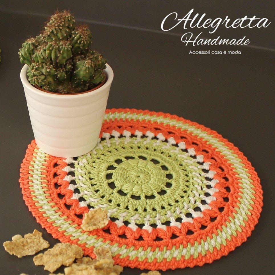 Crochet green doily Round Doily Gift for her Housewarming gift ...