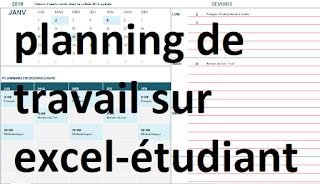 Exemple De Planning De Travail Sur Excel Pour Etudiants Planning De Travail Hebdomadaire Excel Gratuit Planning De Trav Planning De Travail Etudiant Planning