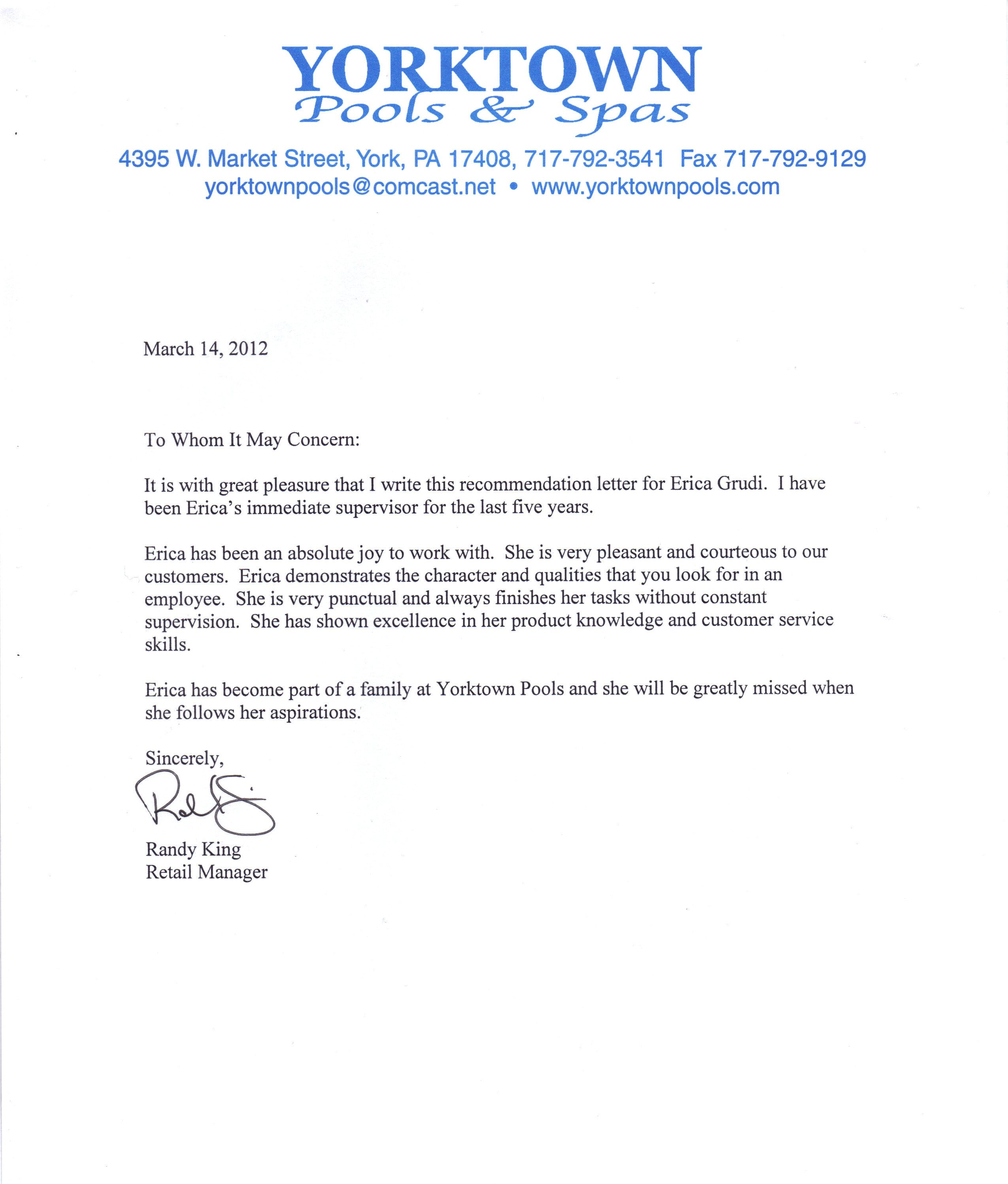 Sample Recommendation Letter For Internship Recommendation Letter