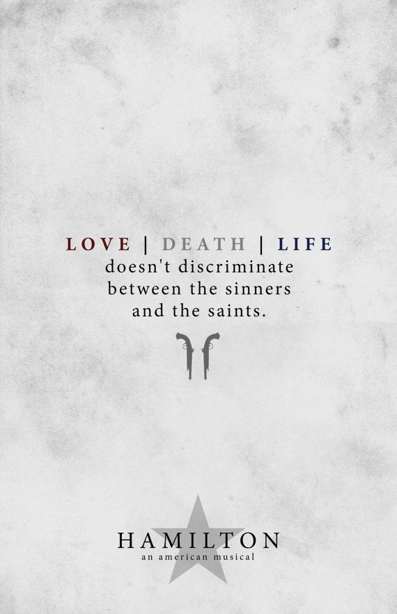Love/Death/Life doesnt discriminate between the sinners and the ...