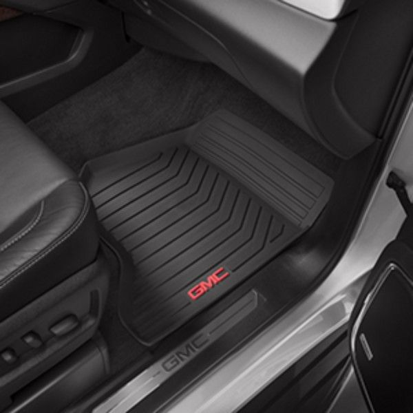 Yukon Denali Floor Mats Front Sets All Weather Black These Front