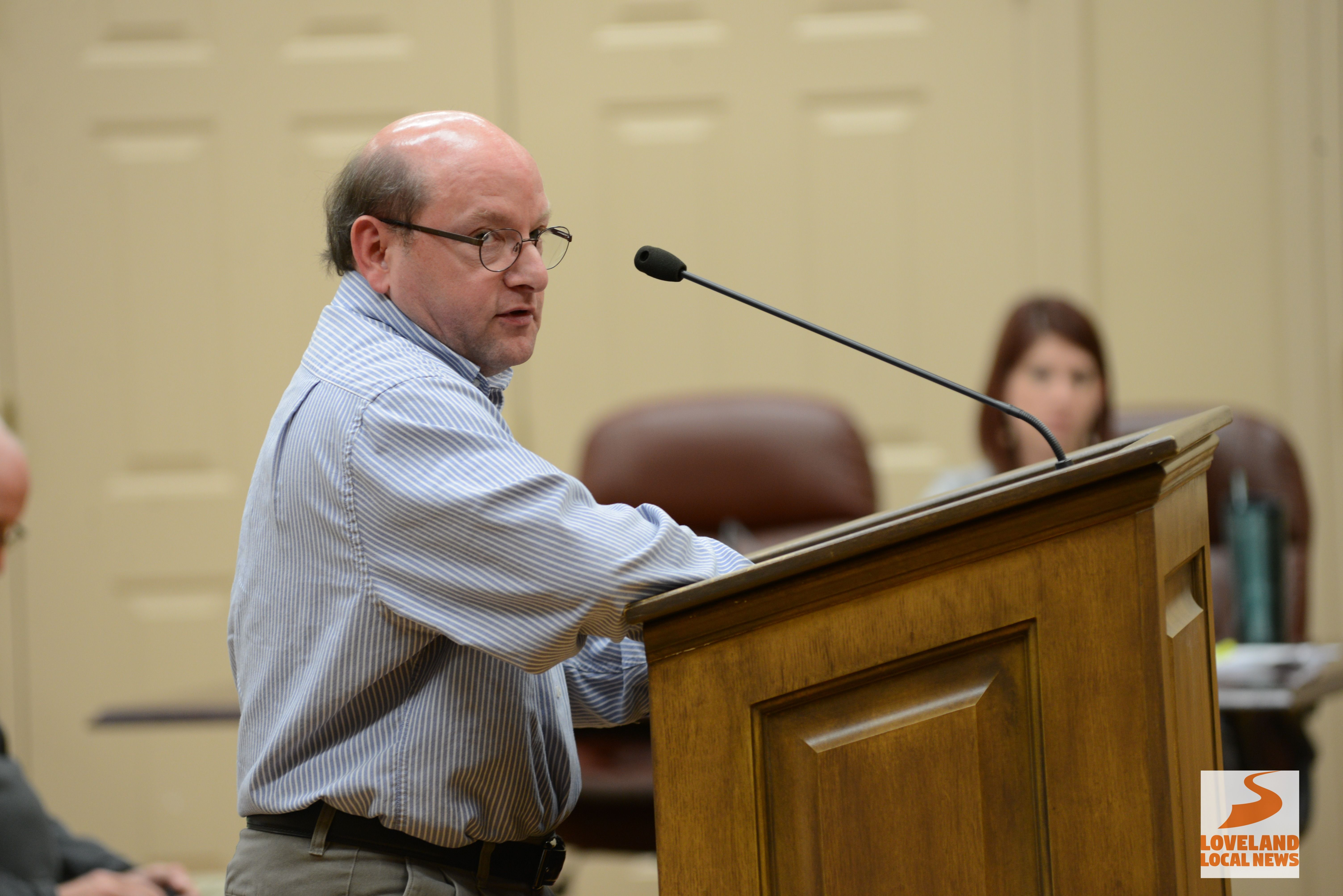 Todd Osborne A Former Loveland City Council Member And Frequent Meeting Attendee Addresses The Government Body During The Publ Loveland Government Local News