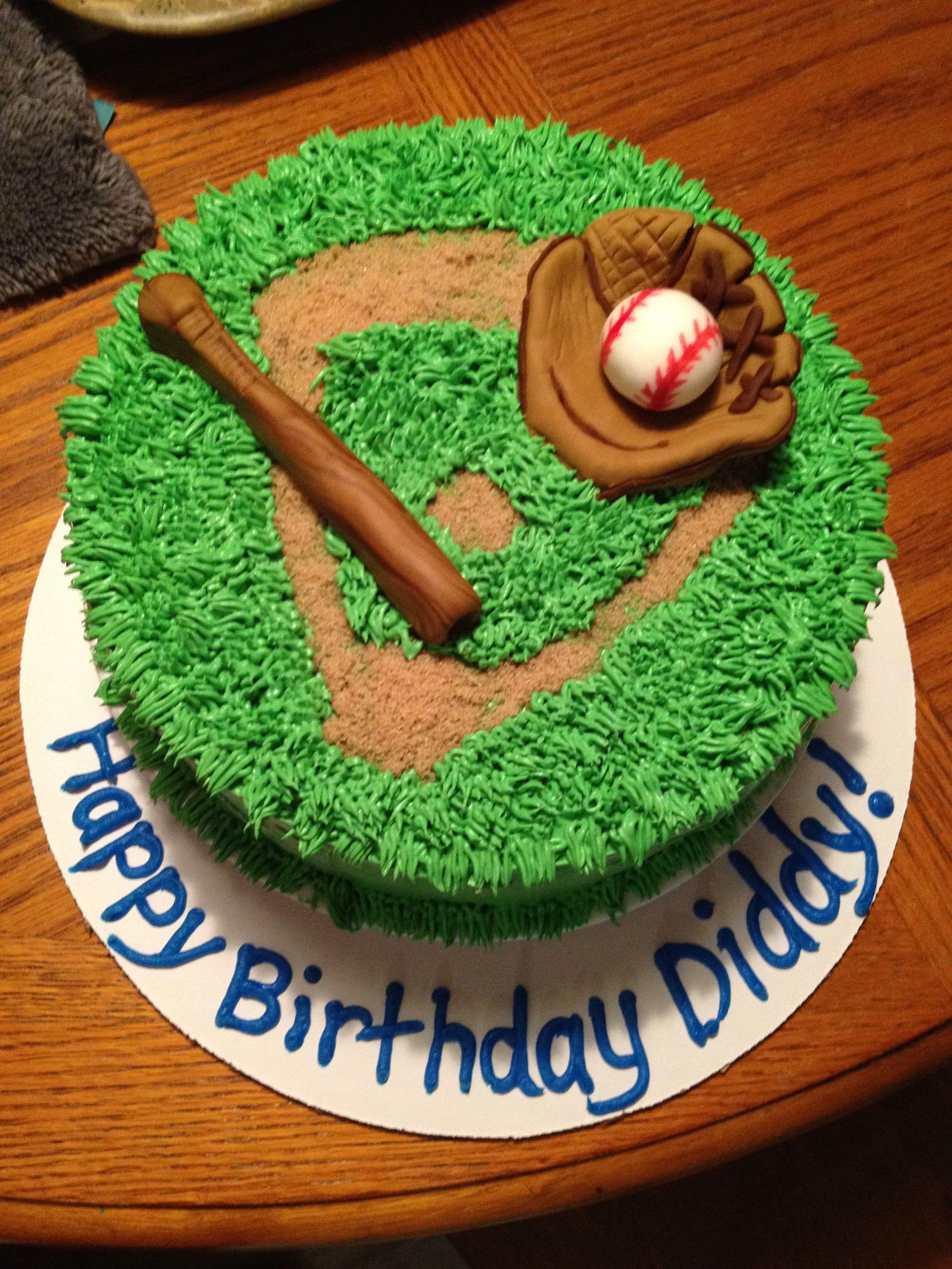 Astounding Baseball Cake With Images Baseball Birthday Cakes Baseball Birthday Cards Printable Inklcafe Filternl