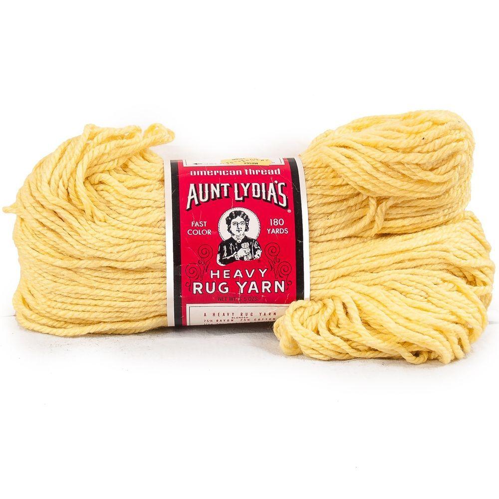 Vintage Aunt Lydias Yarn Heavy #RugYarn #510 #YellowYarn American Thread 236 180 Yd Skein #AuntLydias #RugYarn #Crafts #CraftProjects