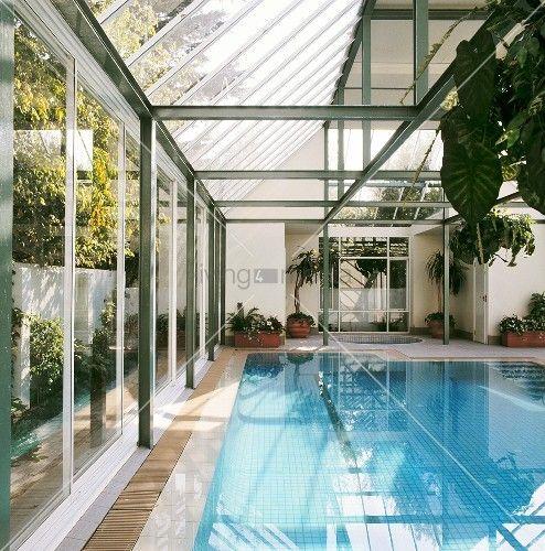 Wintergarten Pool schwimmbad für den garten exclusive outdoor pools
