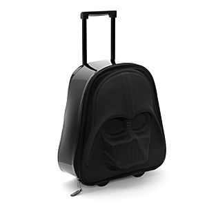 Disney Star Wars Darth Vader Trolley Case For Kids | Disney StoreFree Shipping - For young Jedi knights on overnight trips... or heading far, far away! Shaped like that iconic mask, our zip-up Darth Vader trolley case has a pull-up handle and wheels that flash with red LEDs when moving.
