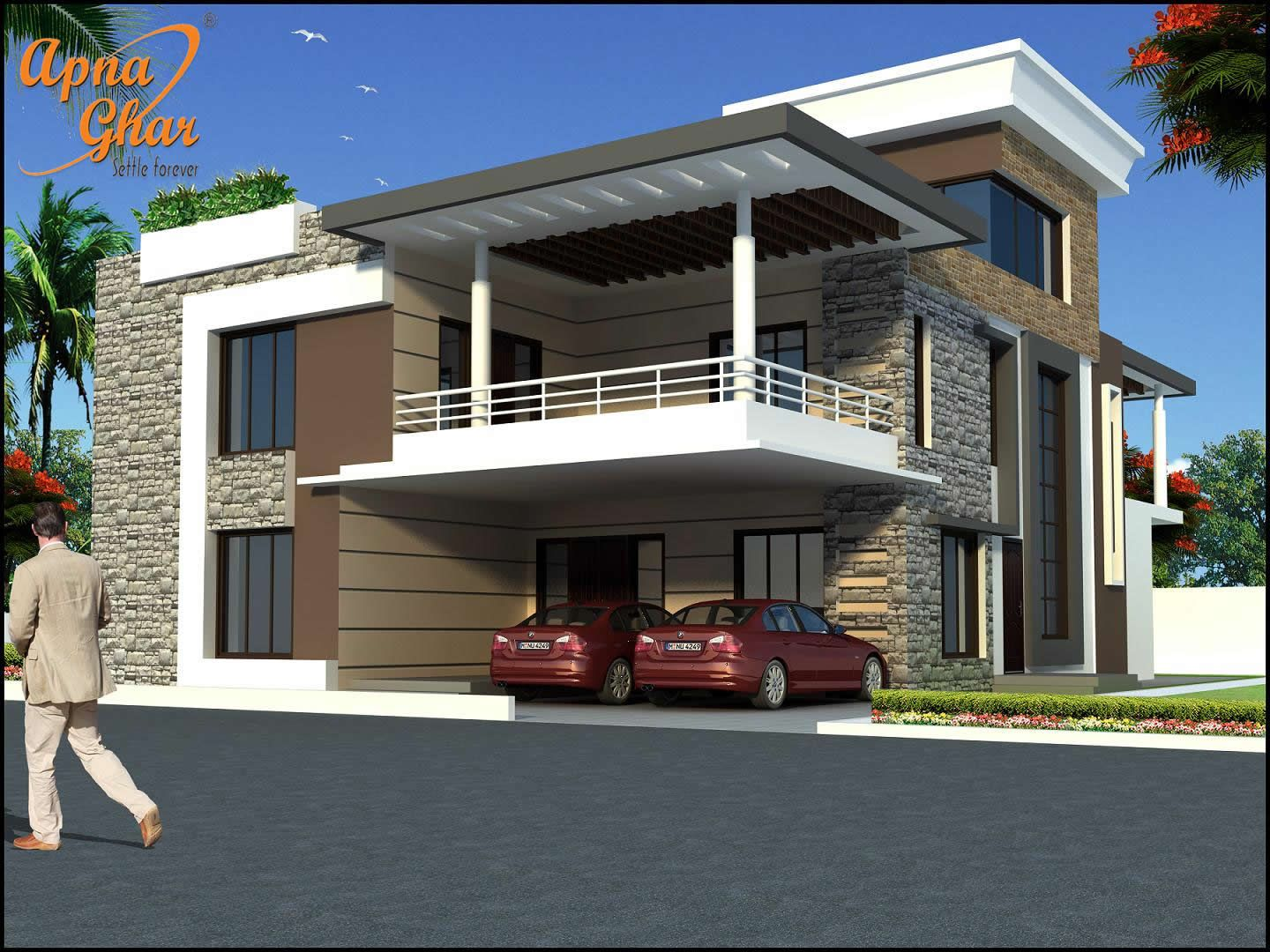 Duplex 2 floor homes click here - Duplex home elevation design photos ...