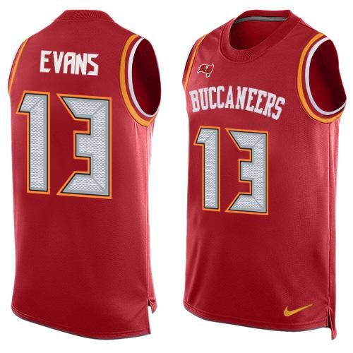 Nike Buccaneers  13 Mike Evans Red Team Color Men s Stitched NFL Limited  Tank Top JerseyAndJadeveon e236804a06f