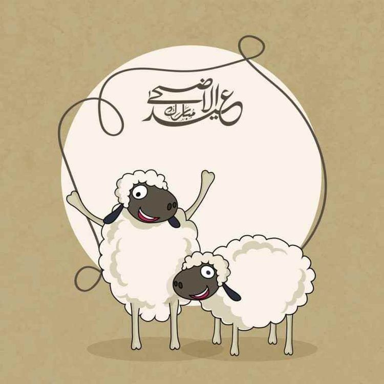 عيد خروف خلفيات سكرابز Eid Al Adha Greetings Eid Stickers Eid Mubarak Wallpaper