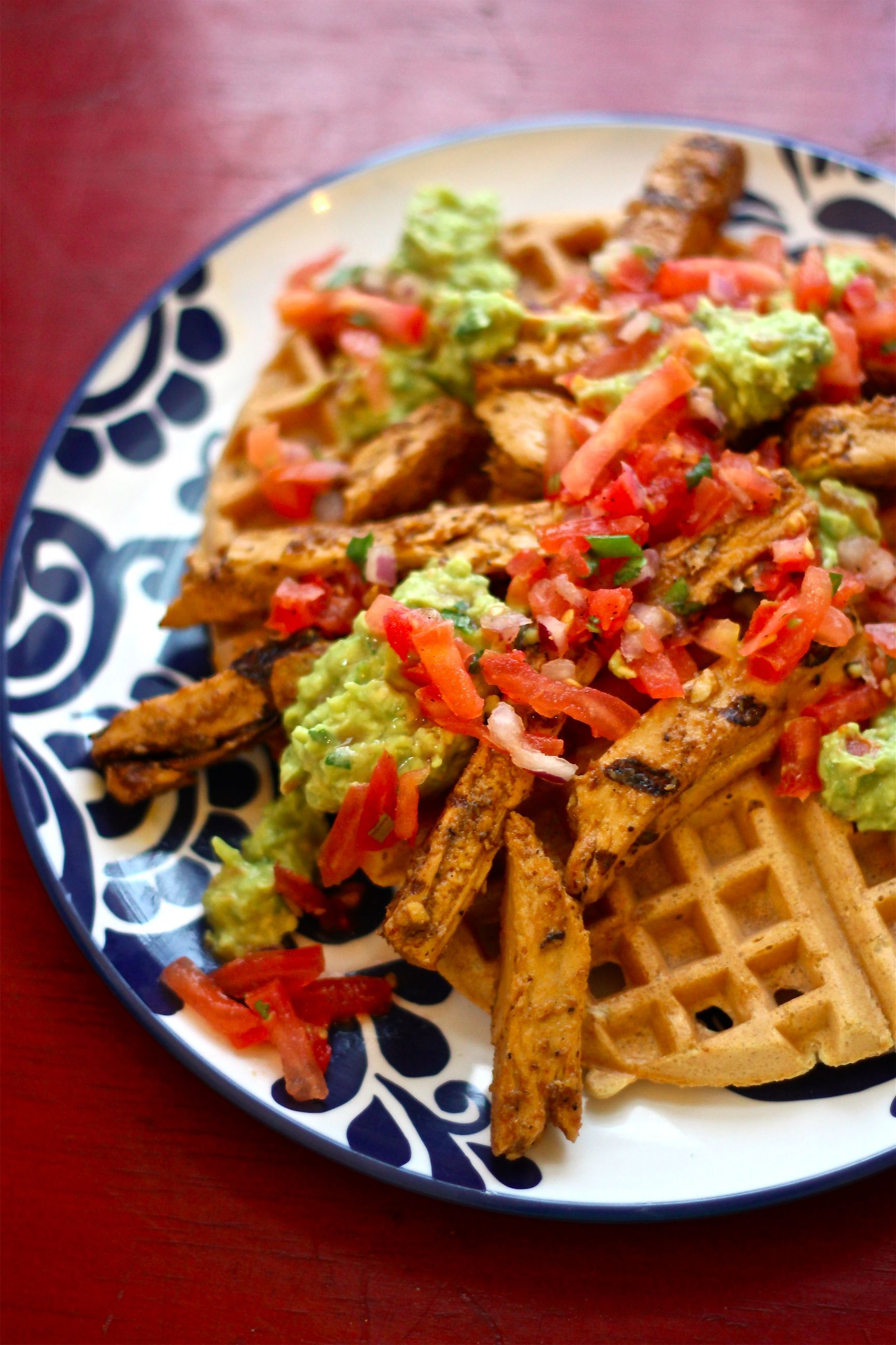 Vegan Mexican Chicken & Waffles (With images) Vegetarian