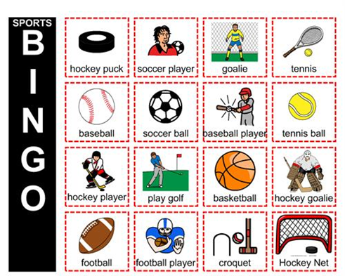 Sports Bingo Kids sports crafts, Bingo for kids, Activities