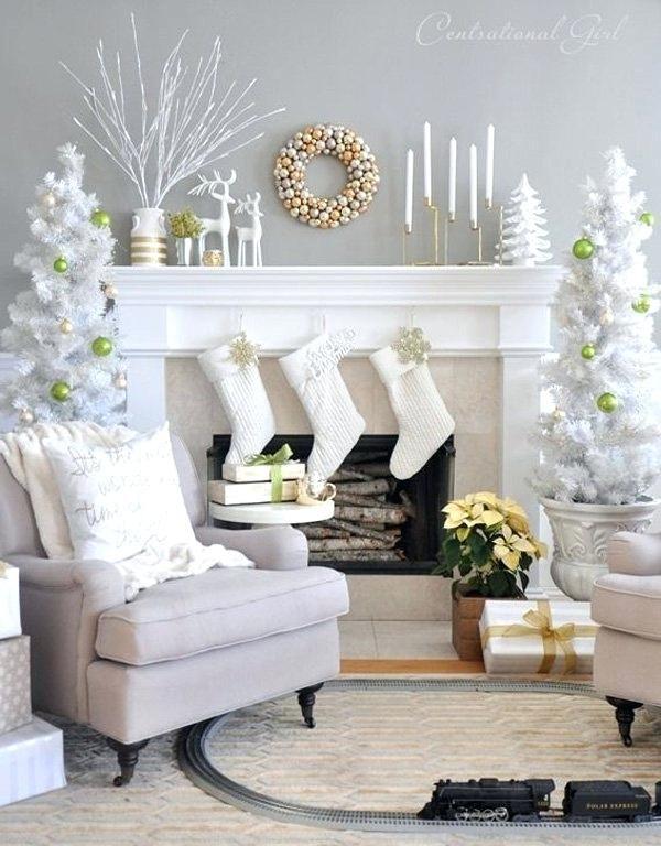 Weiß und Gold Wohnkultur   Christmas   Weiße weihnachten ...