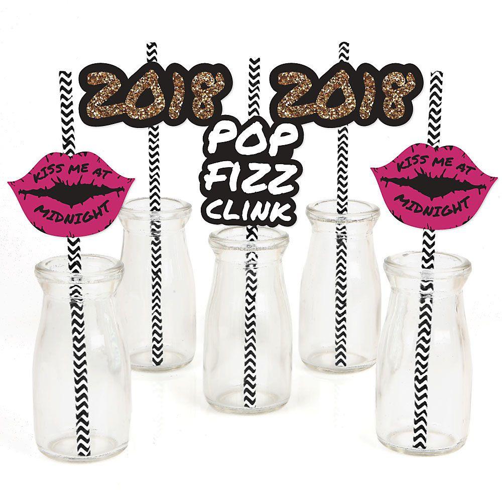 Pop, Fizz, Clink! Paper Straw Decor 2020 New Year's