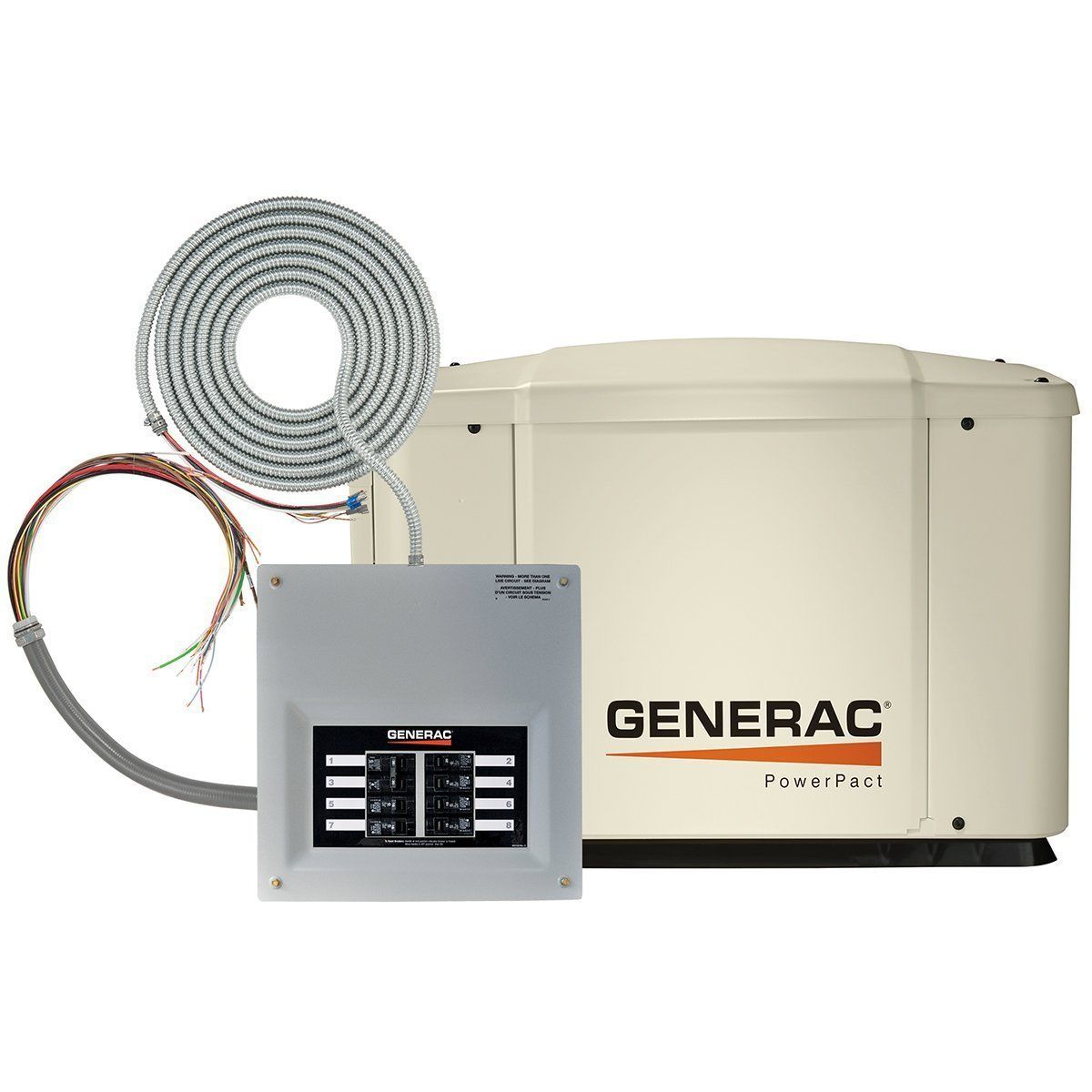 Generac 6518 PowerPact Series, 7kW Air Cooled Standby