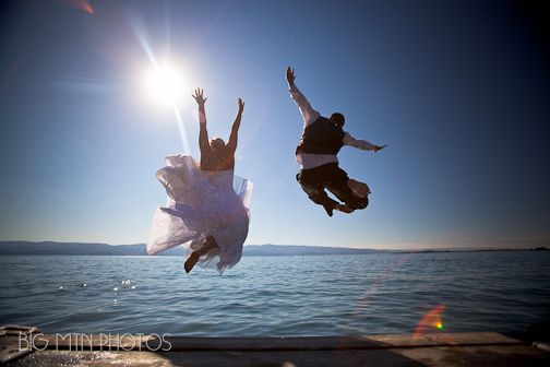 Trash the Dress- Our Wedding Bigfork MT @Kat Gebaurer- Green Kat Photography. Whitefish MT