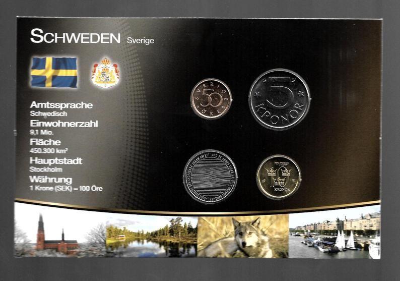 Sweden Set Coin Original Lot Set Coin Coins Unc Dollar Us Etsy Sweden The Originals Air Mail