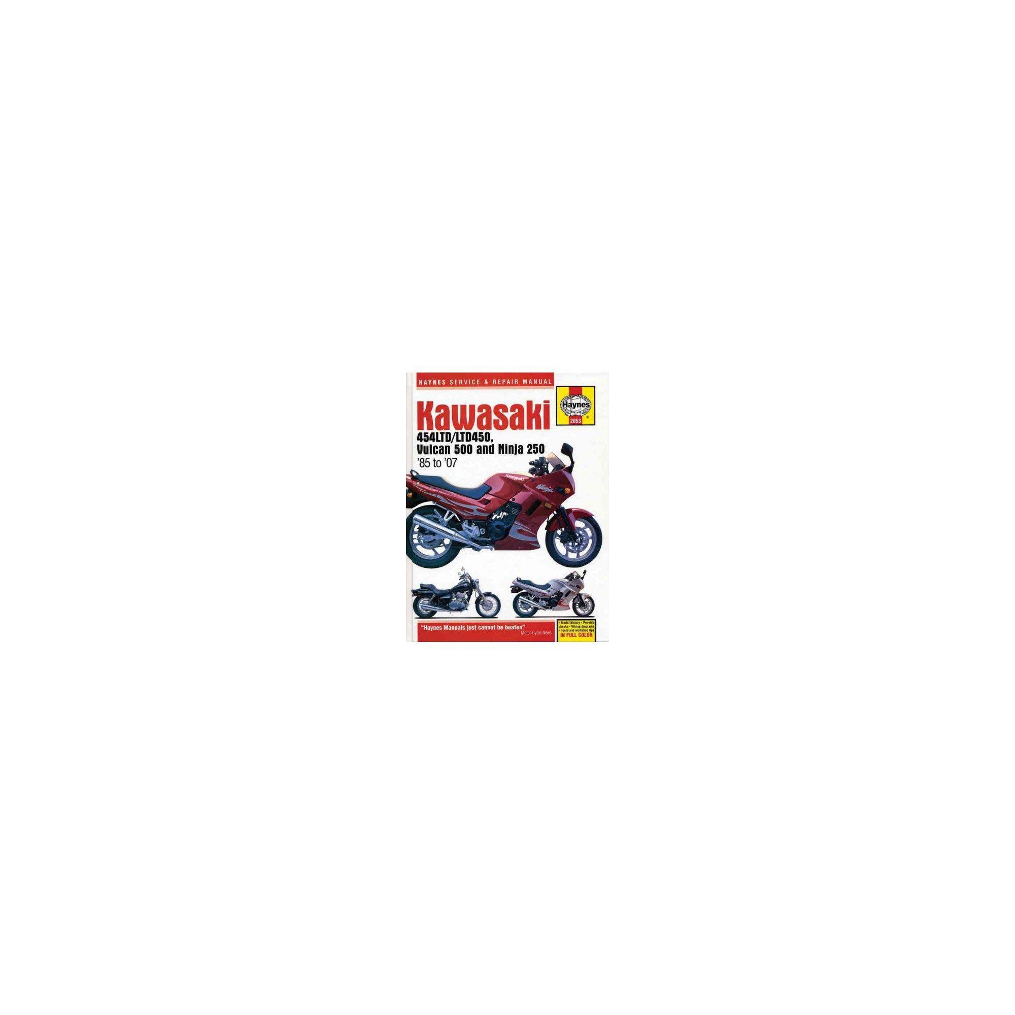 Haynes Kawasaki 454LTD/LTD450, Vulcan 500 Ninja 250 85 to 07 Service Repair  Manual (Paperback) (Alan