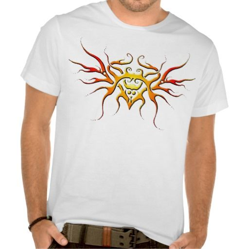 Heart with wings tribal tattoo flame t shirt tattoo for Tribal tattoo shirt