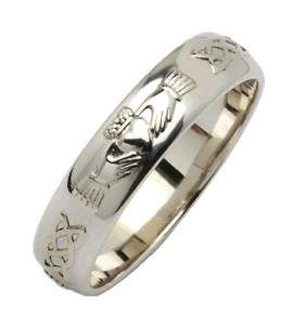 Silver Corrib Claddagh Wedding Band Claddagh Ring Wedding Irish Wedding Rings Claddagh Wedding