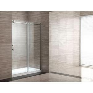 1 Home Depot Ove Decors 32 In X 60 In X 80 In Shower Enclosure In Stainless With Clear Glass Shower Enclosure Sliding Glass Door Glass Shower Enclosures
