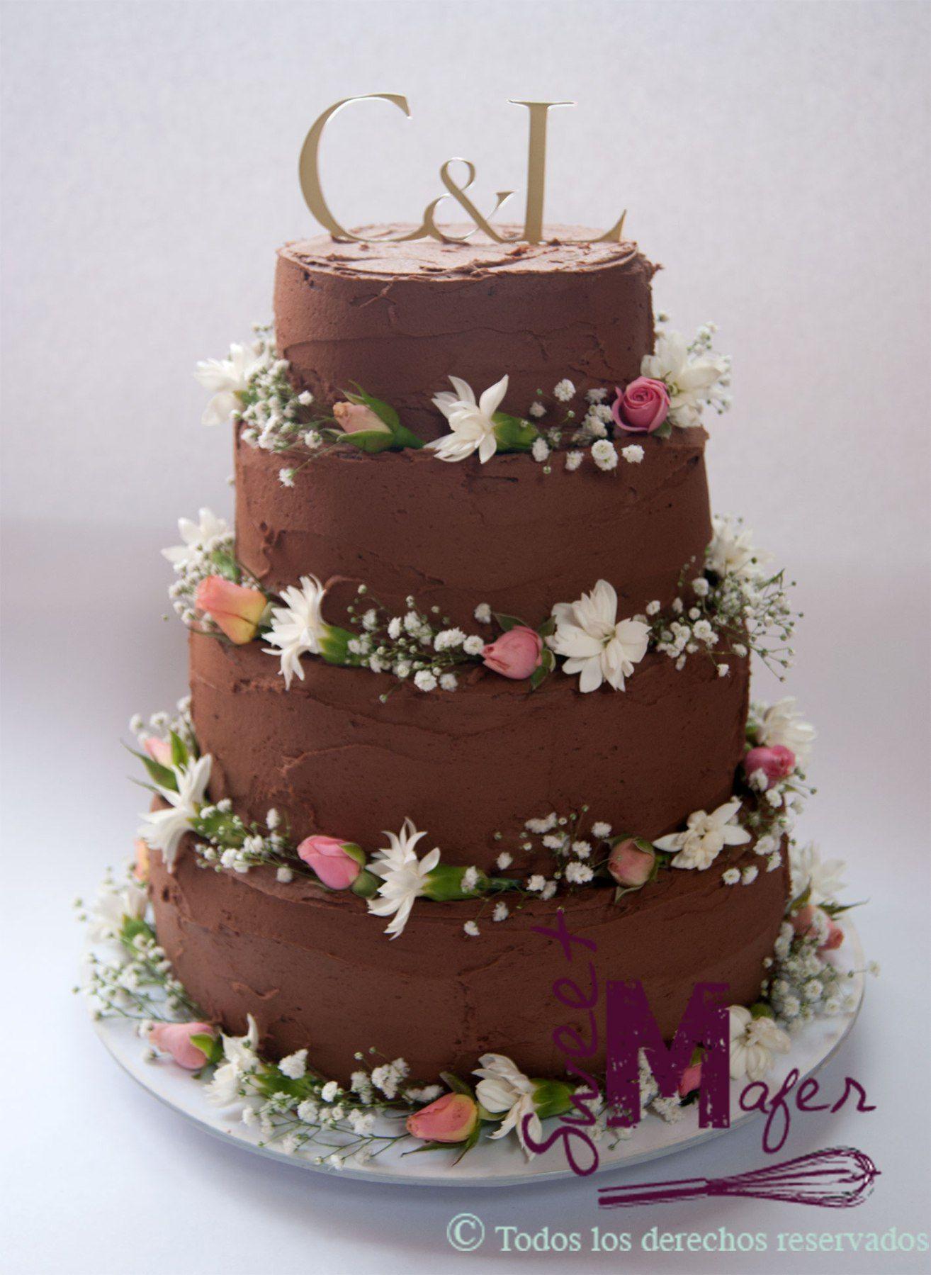 Torta Boda Chocolate Rustica