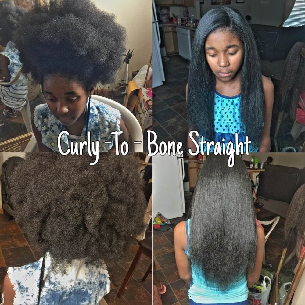 How To Get Natural 4a 4b 4c Hair Bone Straight With No Chemicals