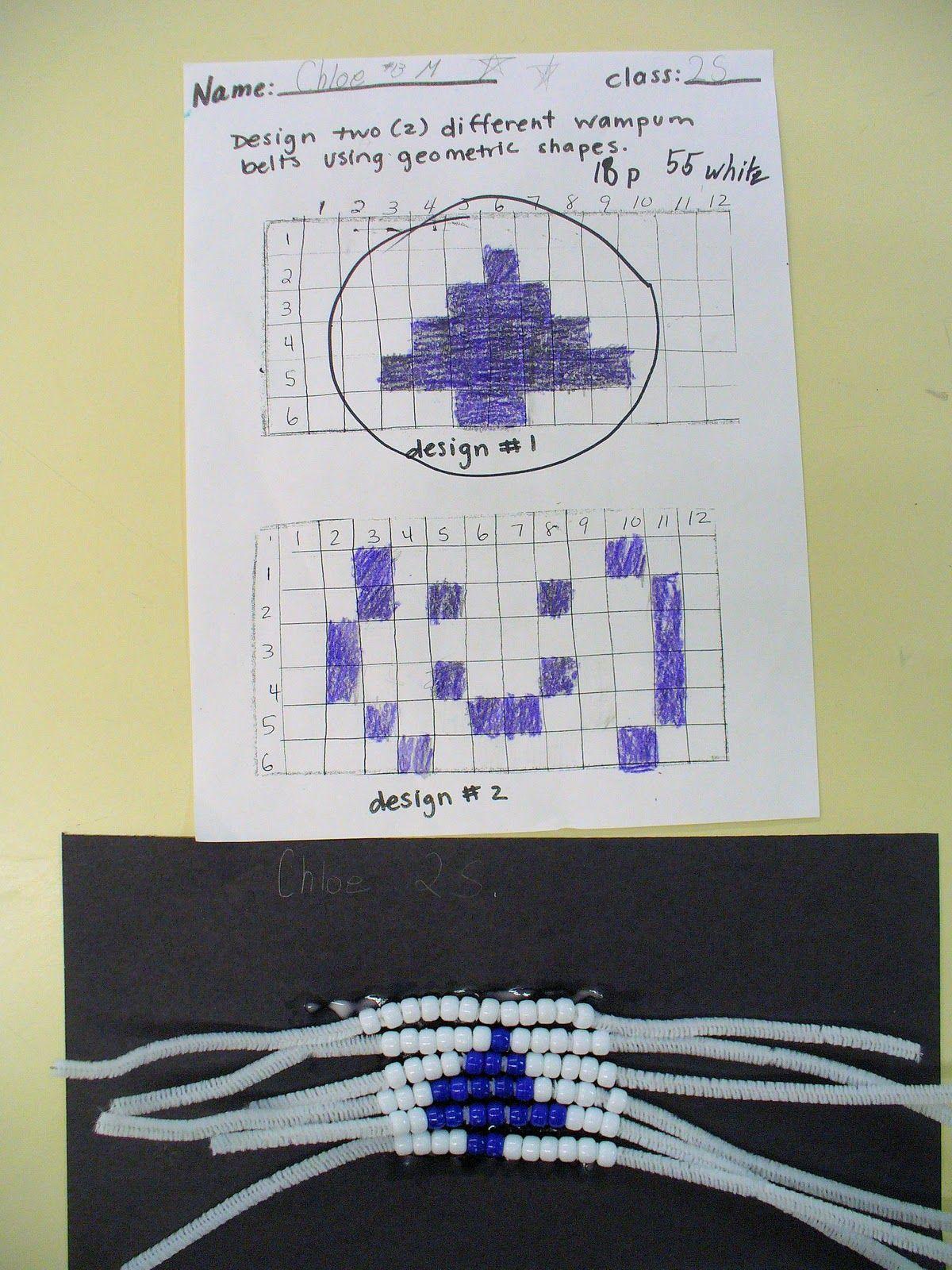 Making Wampum Belts In A 2nd Grade Classroom