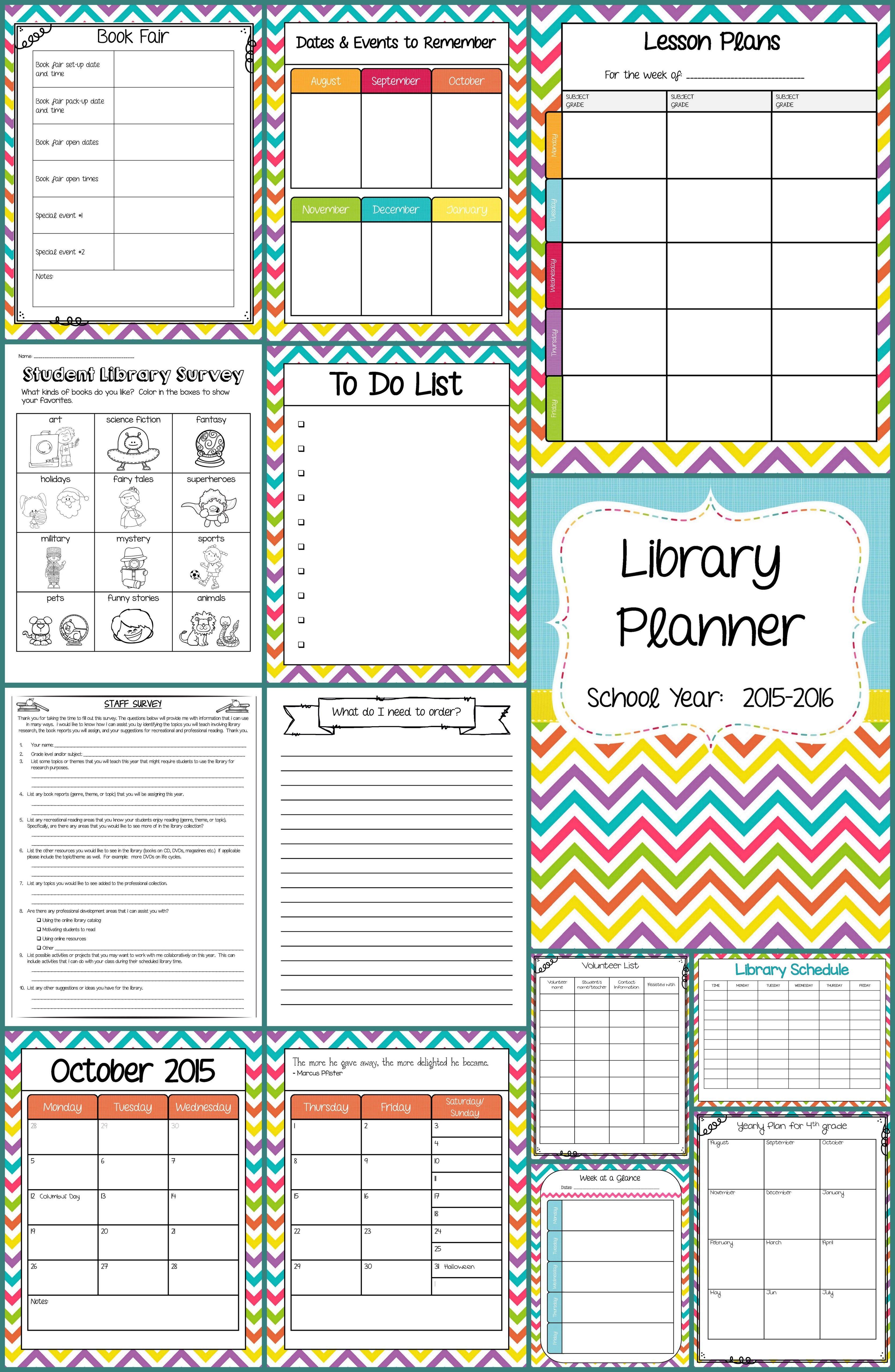 school library planner school librarian lesson plan. Black Bedroom Furniture Sets. Home Design Ideas
