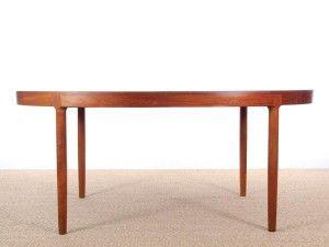 Grande Table Scandinave Ovale En Teck 6 12 Pers