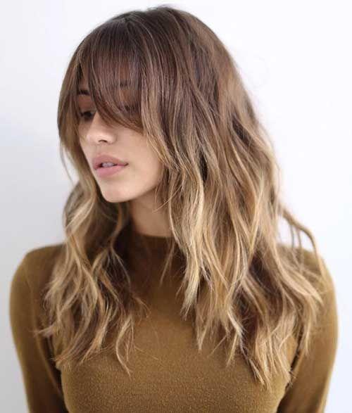 Haircuts With Bangs Wavy Hair