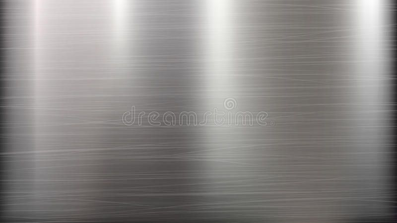 Metal Abstract Technology Background Polished Brushed Texture Chrome Silver Ad Background Polished Brushed Technology Background Chrome Abstract