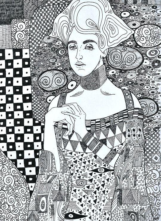 Eatsleepdraw My Version Of Gustav Klimt S Painting Adele Bloch
