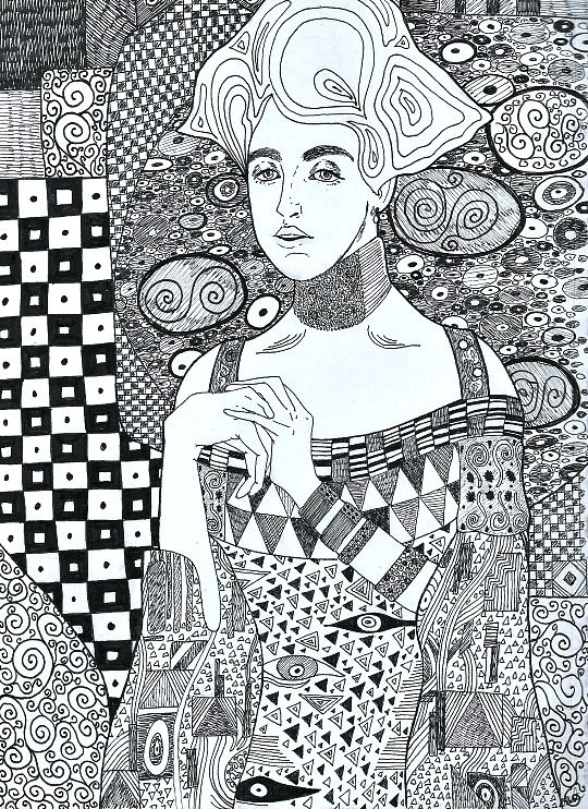 Eatsleepdraw My Version Of Gustav Klimt S Painting Adele Bloch