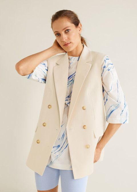ausgewähltes Material preisreduziert neuesten Stil von 2019 Zweireihige weste - Damen in 2019 | Mango | Double Breasted ...