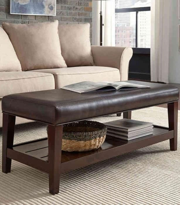 The Zander Bonded Leather Bench Will Bring Style And