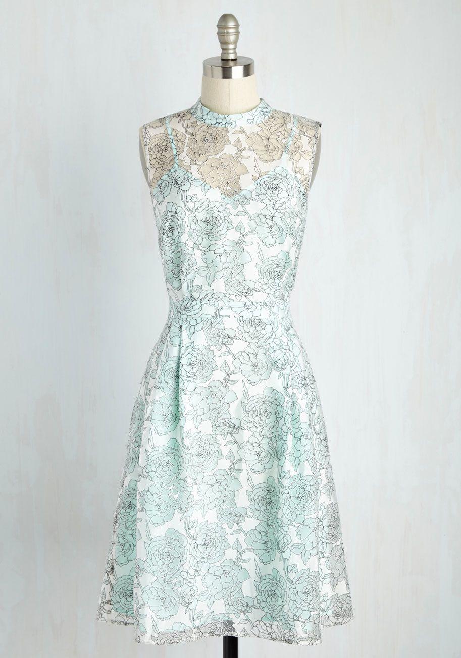 Unfalteringly Feminine Dress in Sky | Playing \'Dress\' Up | Pinterest ...