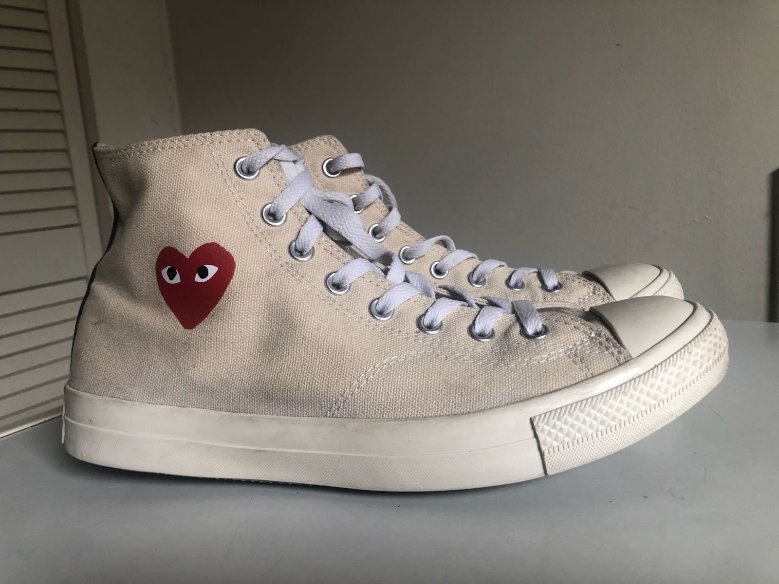 086ac9219751 CONVERSE X COMME DES GARCONS PLAY Chuck Taylor High WHITE Small Heart  Supreme❤️