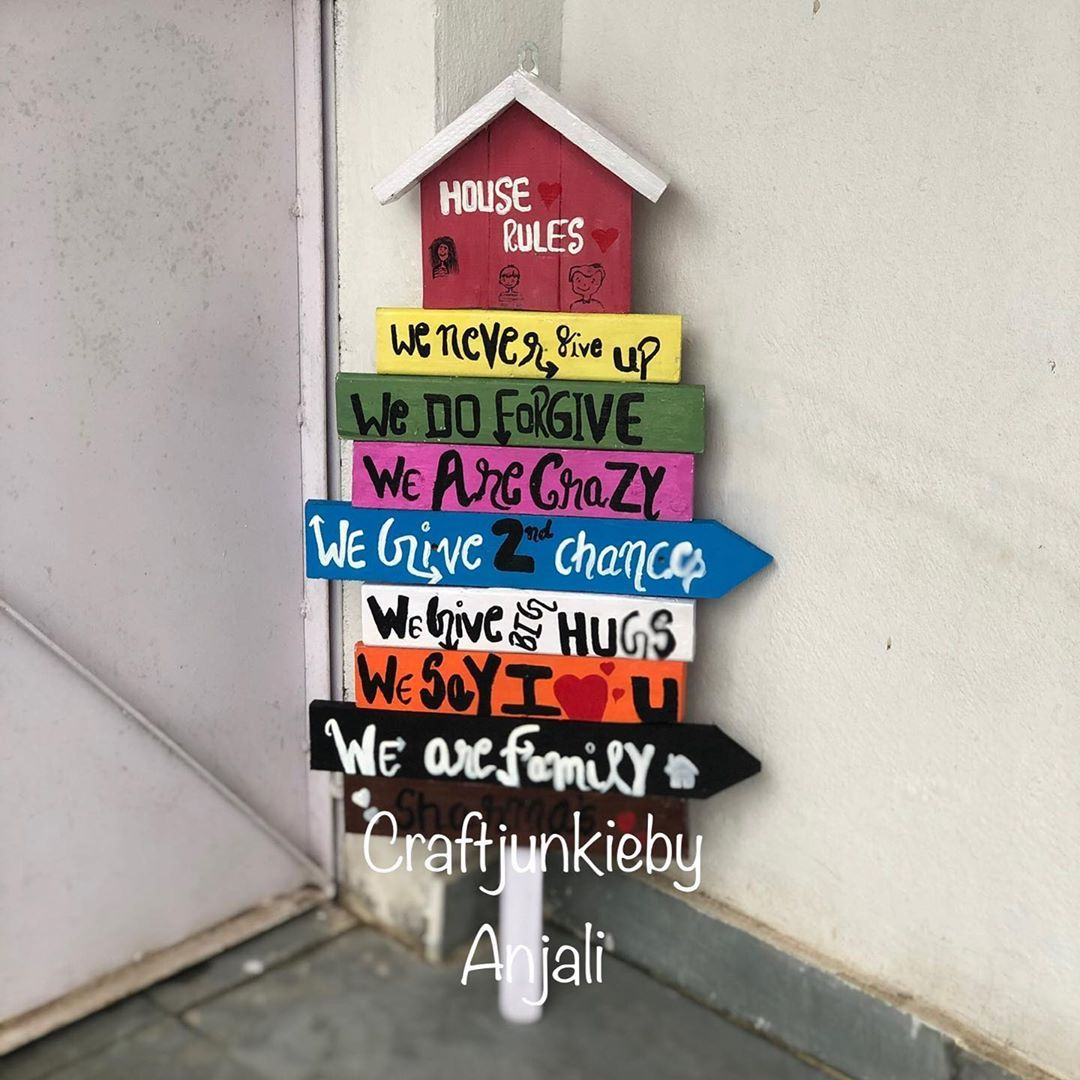 Cozyhouse Decor: Happy Family House Rules. Have Ur Wall Nd Corner Filled
