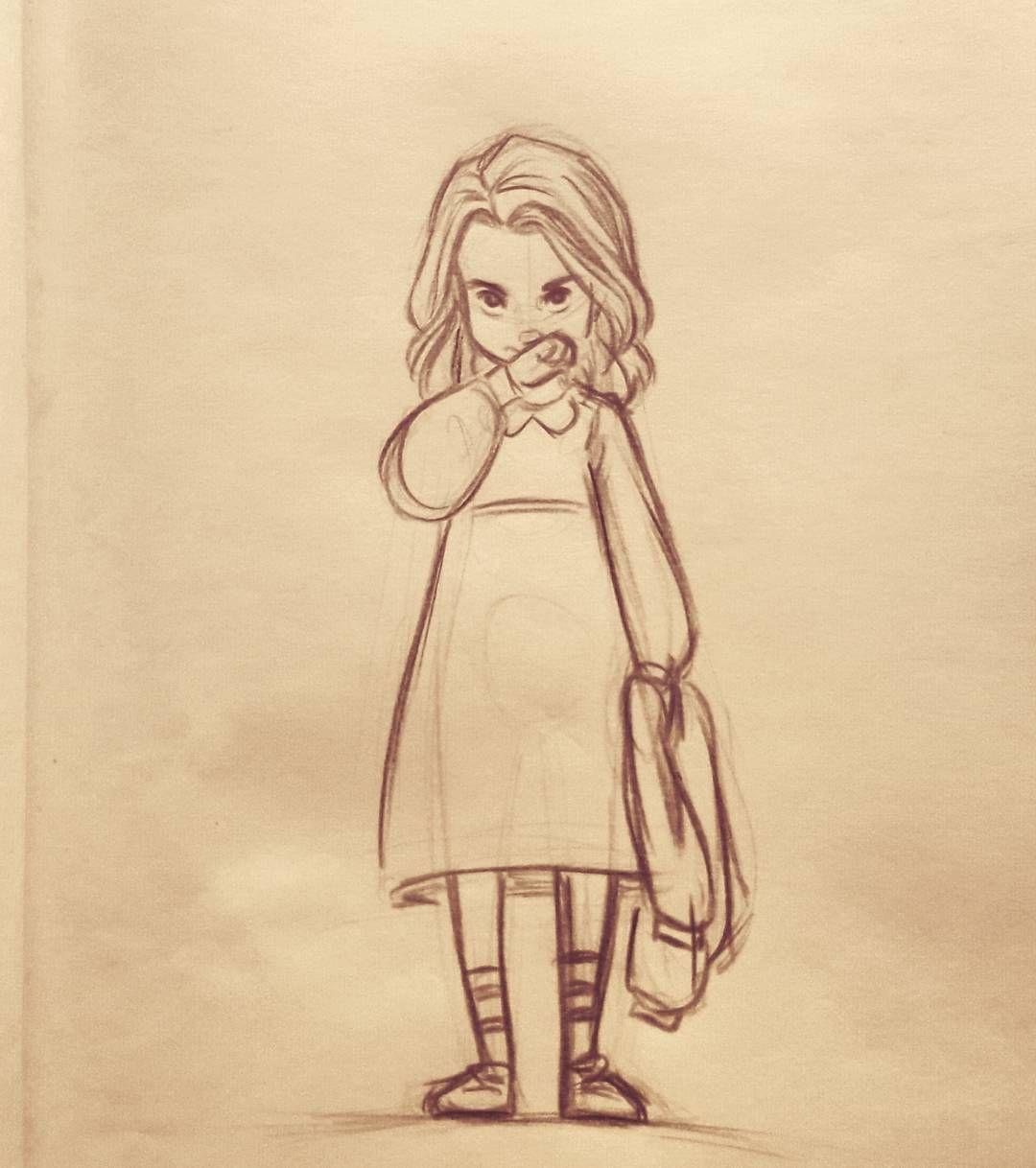 leven #art #draw #drawing #illustration #concept #character #design #sketch #doodle #sketchbook #strangerthings #stranger #things #eleven