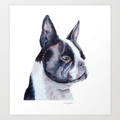 Boston terrier Art Print by Doggyshop - $15.60