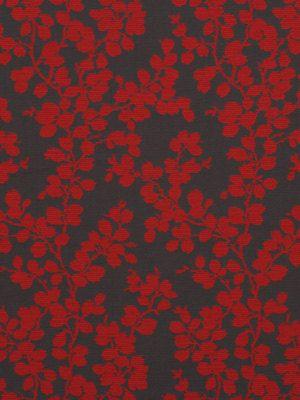 Red Grey Upholstery Fabric Modern Fl By Popdecorfabrics