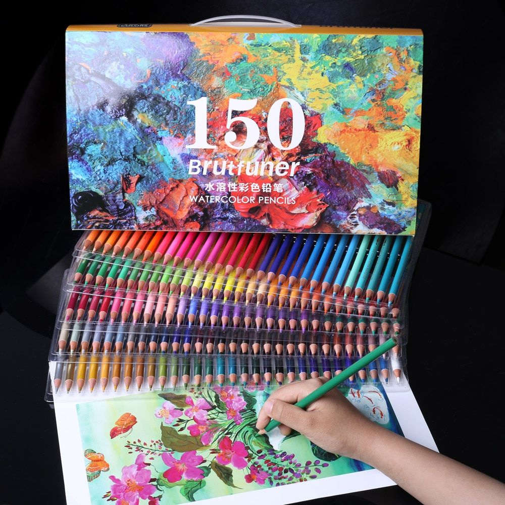 New Professional Watercolor Pencils Set Artist Painting Sketching
