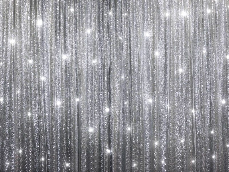 20ft X 10ft Silver Sequin Backdrop Curtain For Photo Booth