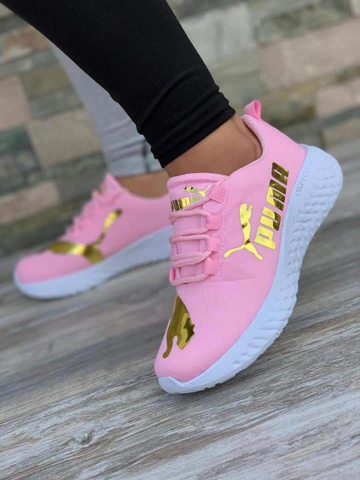 Puma shoes women, Pink sneakers