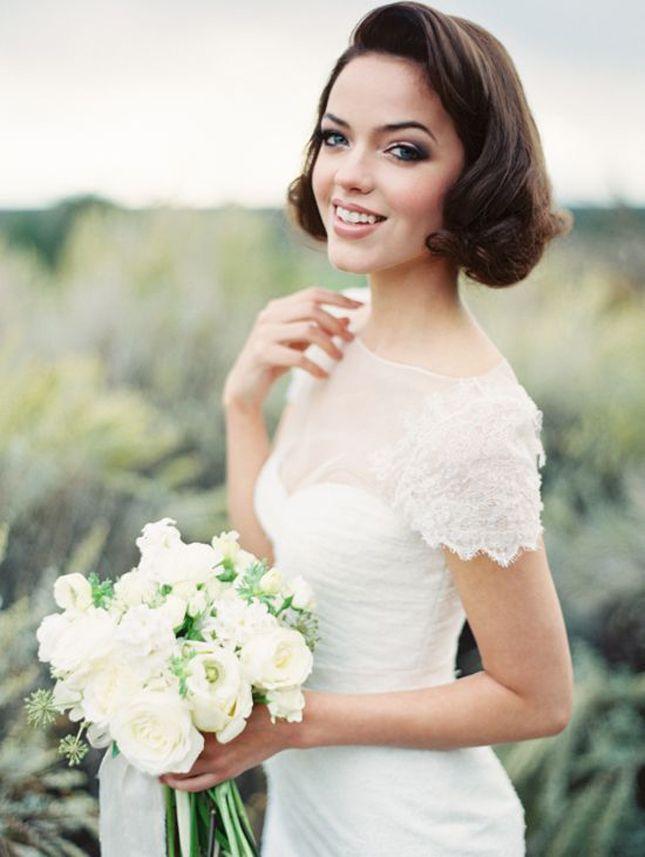 12 Wedding Hairdos For Short Haired Girls Short Wedding Hair Bride Hairstyles Short Hair Styles