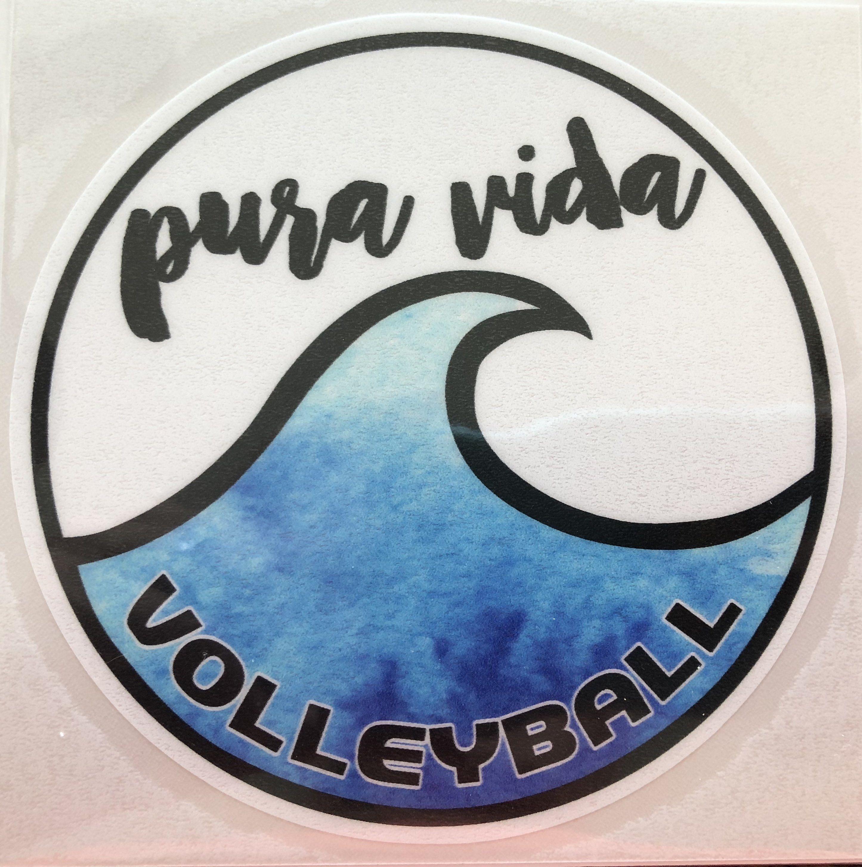 Pura Vida Volleyball Wave Sticker Pura Vida Volleyball Aesthetic Stickers