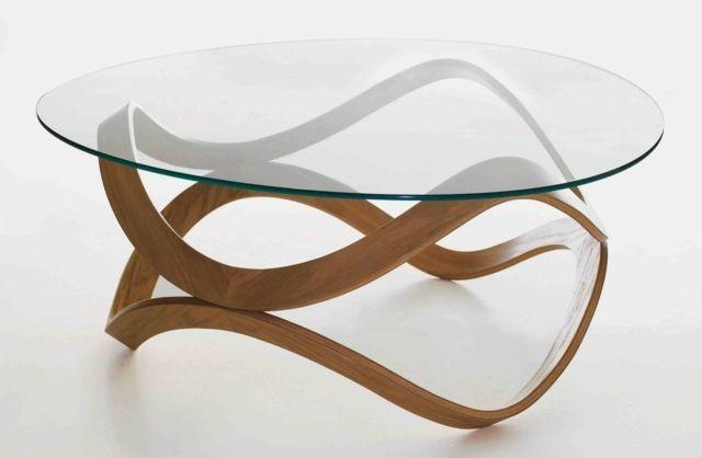Table Basse Design Des Invitations Et Fantaisies Round Coffee Table Modern Coffee Table Design Modern Round Wood Coffee Table