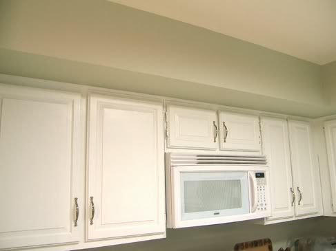 Behr paint mountain haze for the wall and mirage white for the cabinets for the kitchen - Behr kitchen paint colors ...